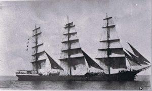 """Die """"Greif"""". Mit diesem Dreimast-Vollschiff fuhr Gustav Lührs ums Kap Hoorn - ein lebensgefährlicher Törn."""