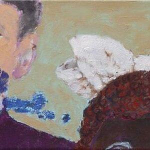 Die Schleife 20x50, Öl Baumwolle, 2005