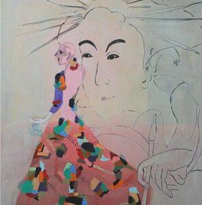 Der Mensch steht stets im Mittelpunkt der Ölbilder von Petra Ehrig.