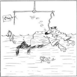 Das Zeug im Wasser zieht nicht runter, mit Luft darin bleibt er putzmunter.