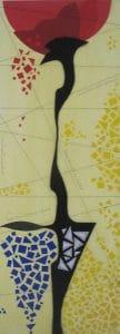 aus SECUMAR Materialen von Adda Behnke gefertigte Collage