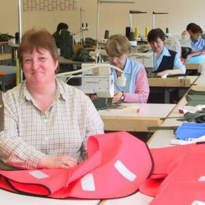 German quality at work! The firm employs its own sewing room.