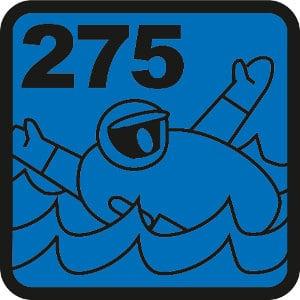 275 N Leistungsklasse der ISO-Norm 12402