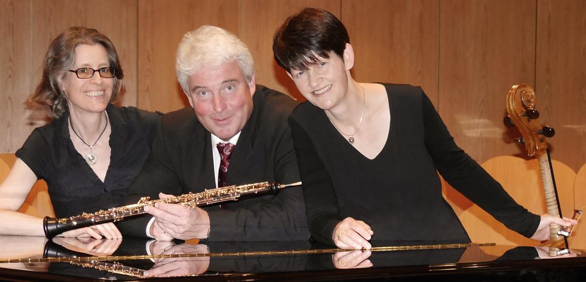 ars secumaris Konzert - Nici Juhl (Klavier), Thomas Rohde (Oboe) und Christiane Reiling (Violoncello)