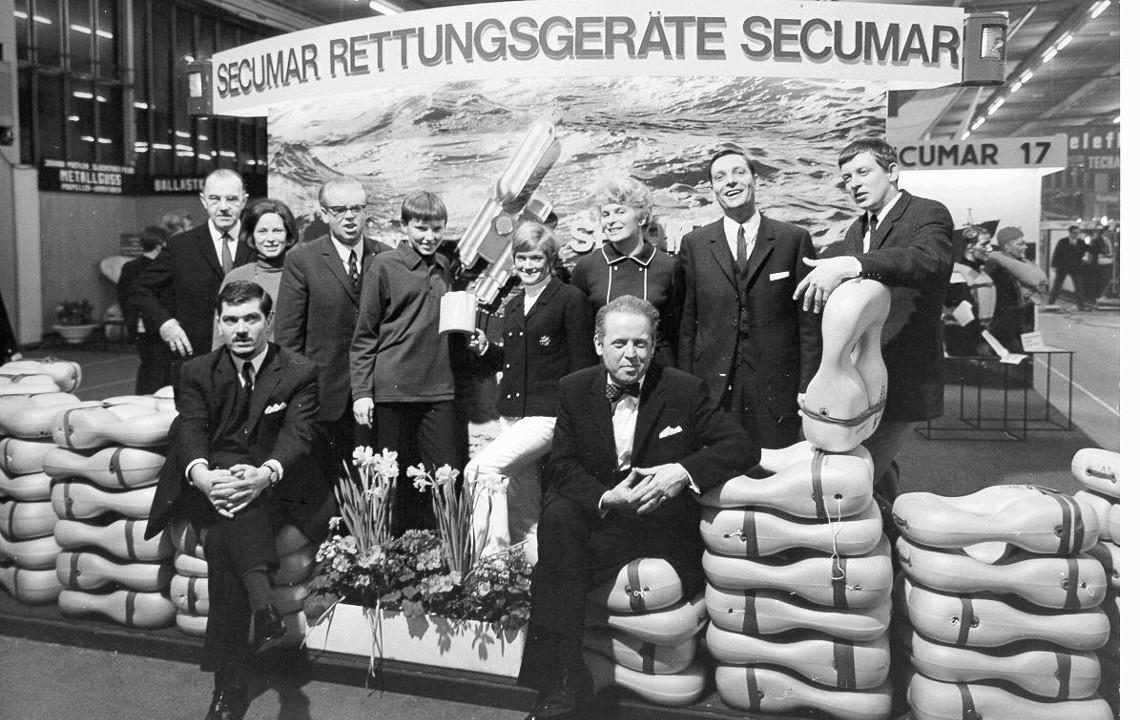hanseboot - SECUMAR Messestand im Jahr 1969