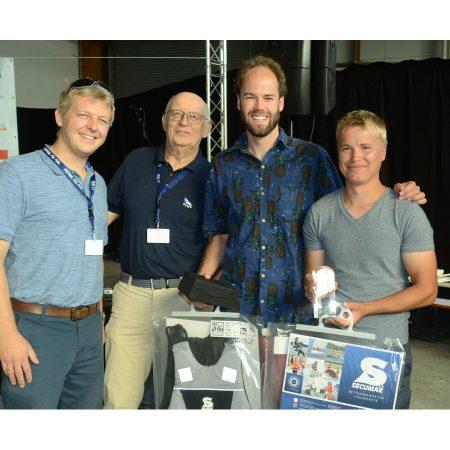 Die Gewinner des Martin-Bernhardt-Gedächtnis-Cup 2019: (von li.) Julius Raithel und Frieder Billerbeck (Sail Number: GER 4418)